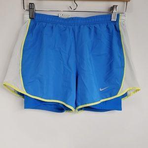Nike Dri-Fit Blue White Yellow Short